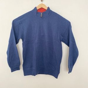 NEW Orvis 1/4 Zip Pullover Sweater Blue
